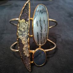 """Excited for our first day @by_couture. Come check out this #druzy #opal and #agate #oneofakind cuff featured in @wwd's """" Couture Show: The Best of 2015's Fine Jewelry."""" See you at Salon 610!"""