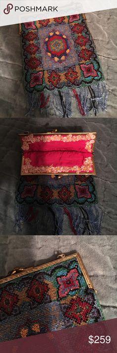 Victorian beaded handbag Vintage Victorian beaded gorgeous handbag impeccable condition vintage Bags Mini Bags