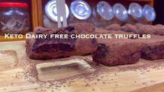 SUGAR FREE DAIRY FREE CHOCOLATE TRUFFLES - YouTube Keto Candy, Dairy Free Chocolate, Candy Making, Chocolate Truffles, Low Carb Desserts, Sugar Free, Banana Bread, Keto Recipes, The Creator