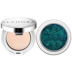 New at #Sephora: SEPHORA COLLECTION Glittering Eye Duo includes glitter and primer in one eye compact for a glamorous party look #makeup #eyes
