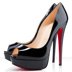 86f65fc38b #ChristianLouboutin #Louboutin Taking The Christian Louboutin Lady 140mm  Peep Toe Pumps Black CLK Make