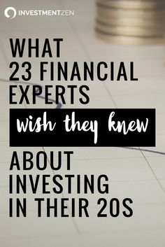 We asked a group of seasoned investors about the investing knowledge they wish they had in their 20s. If you're a young investor, here's a chance to get ahead.