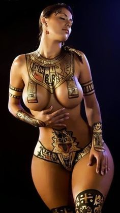 Egyptian Tattoo Design I would never get this, buts its gorgeous & she is amazing