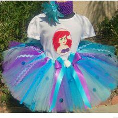 Little mermaid tutu set Any size I make Other