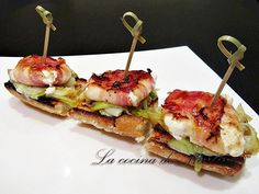 Finger Food Appetizers, Finger Foods, Goat Recipes, Healthy Recipes, Brunch, Tapas Bar, Canapes, Seafood Recipes, Food And Drink