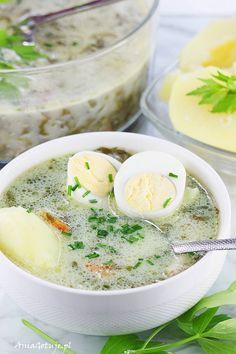 Soup Recipes, Cooking Recipes, Polish Recipes, Polish Food, B Food, Quick Easy Meals, Food And Drink, Healthy Eating, Dishes