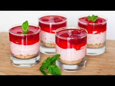 Lemon Raspberry Cheesecakes | No BAKE | Single serve or recipe for 12 | My Cupcake Addiction - YouTube