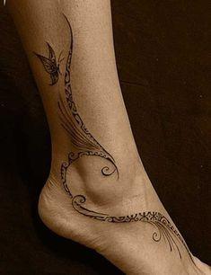 9 Maori Leg Design Tattoo - Hand & Fuß Tattoos - Tattoo Designs For Women Pixie Tattoo, 1 Tattoo, Samoan Tattoo, Tatoo Art, Tattoo Fonts, Tattoo Hand, Wave Tattoo Foot, Tattoos Bein, Leg Tattoos