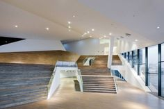 Interior aspect of 'EYE', the Dutch Film Institute in Amsterdam by Delugan Meissl Associated Architects