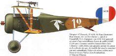 """Nieuport 17 C1 Unit: N3 Escadrille """"Cigogne"""" Serial: 1428 Pilot - Sous-Lieutenant Rene Dorme 'le Pre Dorme', 1916."""