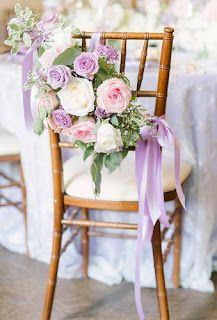 33 Lavender Wedding Decor Ideas You Will Love Wisteria Wedding, Lilac Wedding, Wedding Bouquets, Wedding Flowers, Lavender Weddings, Wedding Dresses, Wedding Chair Decorations, Wedding Table Settings, Wedding Chairs
