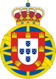 Coat of arms of the United Kingdom of Portugal, Brazil and Algarves, (1816–1821). Was a pluricontinental monarchy formed by union of that Kingdom of Brazil with the Kingdom of Portugal and the Kingdom of the Algarves, constituting a single state consisting of three kingdoms.