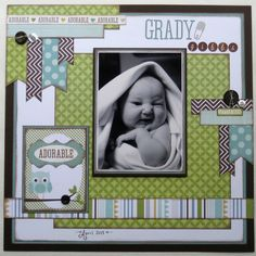 adorable baby boy layout by Tracy McLennon