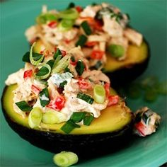 Avocado and Tuna Tapas | This is a light, healthy tapa that goes best with crisp white wines and crunchy bread.