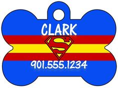 Superman Dog Tag Pet Id Tag Personalized w/ Name and Number ** To view further for this item, visit the image link. (This is an affiliate link and I receive a commission for the sales)