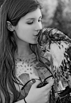 22-year-old Jackie Barry says falconry, or hunting wild game with a raptor, consumes her life; Photo courtesy of Barry
