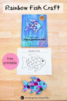 This rainbow fish craft is the perfect companion to the beloved book The Rainbow Fish. It is so bright and colorful - kids love it! This rainbow fish craft is the perfect companion to the beloved book Rainbow Fish Activities, Rainbow Fish Crafts, Ocean Activities, Toddler Activities, Activities For Kids, The Rainbow Fish, Rainbow Fish Eyfs, Rainbow Fish Template, Rainbow Theme