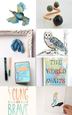 Girl, in Her World by Nari on Etsy--Pinned with TreasuryPin.com