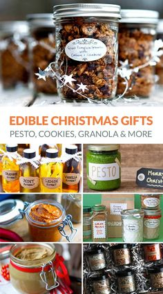 12 Awesome Homemade Edible Gift Ideas Next time you're looking for that perfect present, why not make some DIY edible gifts. Homemade cookies, spice blends and yummy pesto - lots to choose from. Edible Christmas Gifts, Diy Holiday Gifts, Handmade Christmas Gifts, Diy Yule Gifts, Christmas Hamper Ideas Homemade, Baked Goods For Christmas Gifts, Christmas Ideas For Gifts Diy, Homemade Christmas Presents, Christmas Items