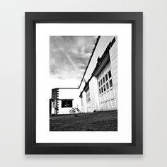 Empty repair shop Framed Art Print