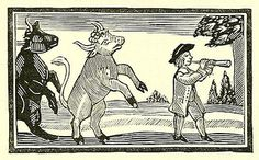 """""""The Friar and Boy or the Young Piper's Pleasant Pastime"""" woodcut from the Chap-books of the eighteenth century, with facsimiles, notes, and introduction by John Ashton (1882)"""