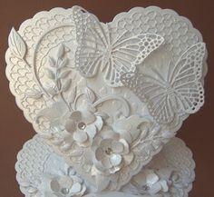 Oh my word.  Created by Ullis Bastelwerkstatt: Ganz in weiß - All in White