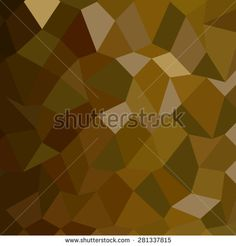 Low polygon style illustration of olive drab abstract geometric background.