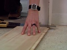 How to Install Laminate Flooring : How-To : DIY Network,, door jambs, and end piece tips