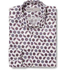 Etro Slim-Fit Paisley-Print Cotton Shirt   MR PORTER