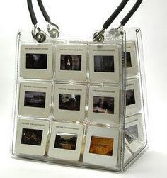 bag made with vintage slides