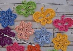 Farfalle colorate a uncinetto da applicare: i tutorial di Camilla