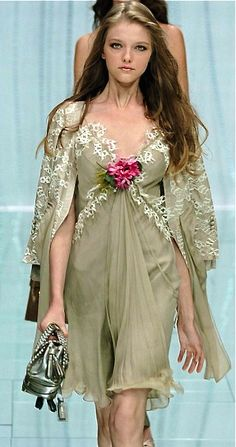 A longer, more pale version for a wedding gown? ~ Elie Saab