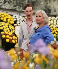 Cuteness: Benedict and his mum at the Chelsea Flower Show