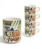 "Vintage Kellogg's ""Sugar Pops"" Stackable Breakfast Bowls Breakfast Bowls, Cereal Bowls, Tupperware, Popsugar, Mugs, Tableware, Vintage, Dinnerware, Tumblers"