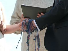 Why I cant gush enough about our color-coded handfasting ceremony | Offbeat Bride