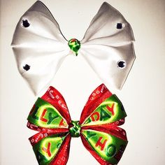 Butterfly bow and stacked hair bow