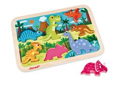 Chunky Puzzle Dino Puzzle, Plastic Cutting Board, Ebay, Dinosaur Toys, Laser Engraving, Wooden Figurines, Woodworking Toys, Glee, Random Stuff