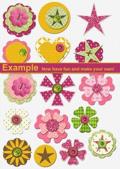 They are DIY scrapbook embellishments, but could decorate almost anything.