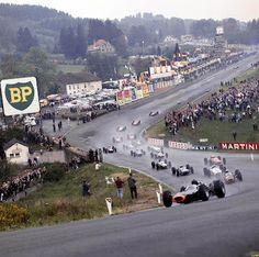 Eau Rouge at Spa Francorchamps 1965