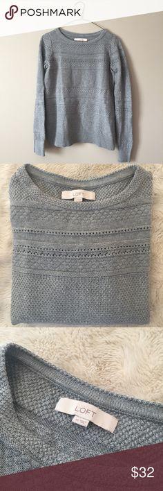 Loft Sweater NWOT NWOT! 100% Cotton. True Grey Color. LOFT Sweaters Crew & Scoop Necks