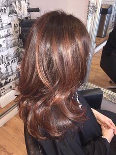 Chocolate brown with cinnamon highlights