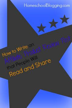 How to Write an Affiliate Product Review Post that People Will Read and Share #hsbloggers