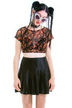 Vintage 90's Authentic Alberta Ferretti Silk Tennis Skirt - S