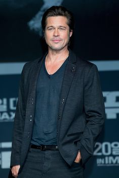 Brad Pitt jetted all the way over to South Korea for a Fury press conference on Thursday.