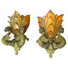 Art Deco Bronze Bird Light Fixtures | From a unique collection of antique and modern wall lights and sconces at http://www.1stdibs.com/furniture/lighting/sconces-wall-lights/