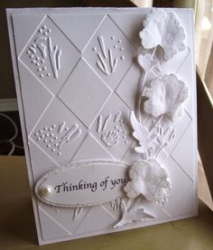SGD Presents.: Border die and Diamonds Embossing folder, Good Morning Everyone, I Think Of You, Embossing Folder, Projects To Try, Diamonds, Presents, Cards, Map, Playing Cards