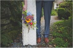 Wildflower handpicked bouquet..  {Creative and alternative wedding photography by Sally T Photography}