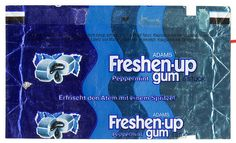 Gum with liquid in the middle