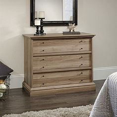 Timeless charm abounds on the Sauder Barrister Lane 3 Drawer Chest, and you'll love the effect it creates in your design space. Double drawer fronts, dainty met...
