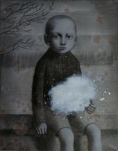 boy with cloud